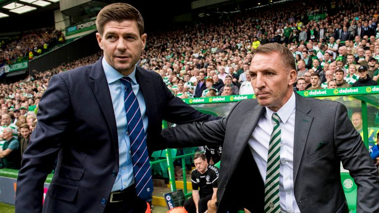 Gerrard says when his former manager Brendan Rodgers joined Celtic in 2016 it increased his focus on Scottish football