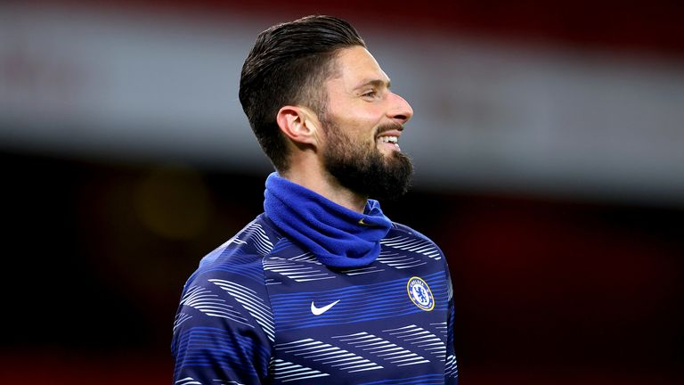 Olivier Giroud has eight goals in his last eight Chelsea appearances