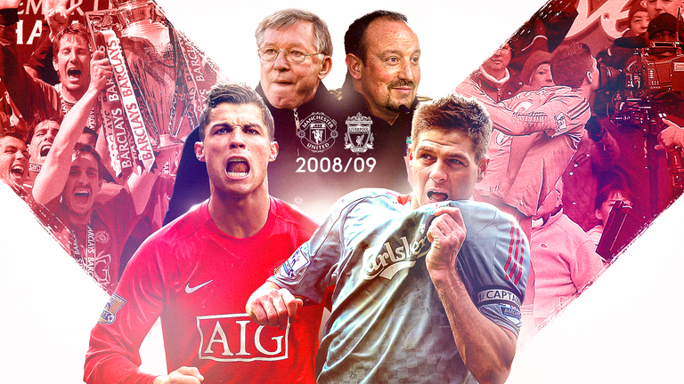 Liverpool and Manchester United last went head-to-head for the title in 2008/09 - and it was a memorable one...