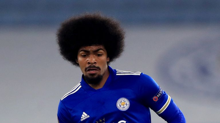 Leicester City's Hamza Choudhury during the UEFA Europa League Group G match at the King Power Stadium, Leicester