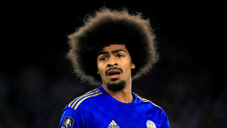 Leicester City's Hamza Choudhury in action during the FA Cup third round match at The King Power Stadium, Leicester.
