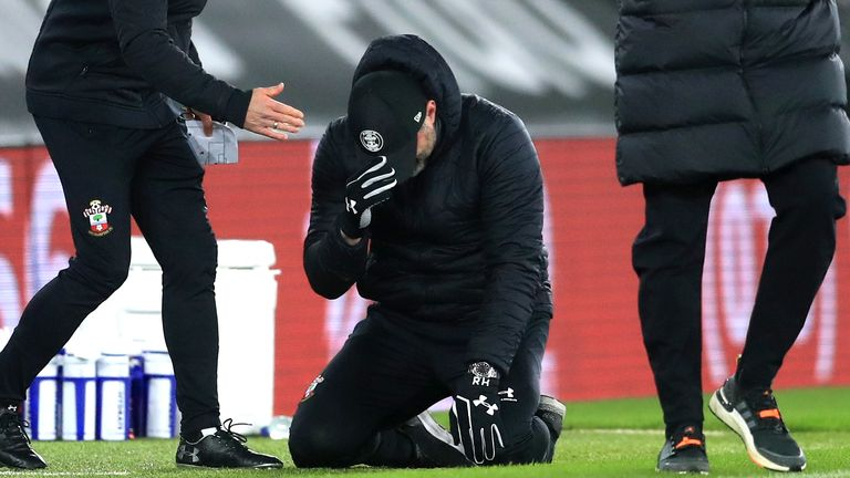 Hasenhuttl in tears after beating Liverpool