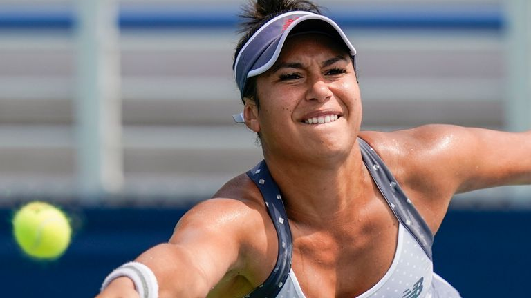 Heather Watson vs Bernarda Pera at the Western & Southern Open Aug. 22, 2020