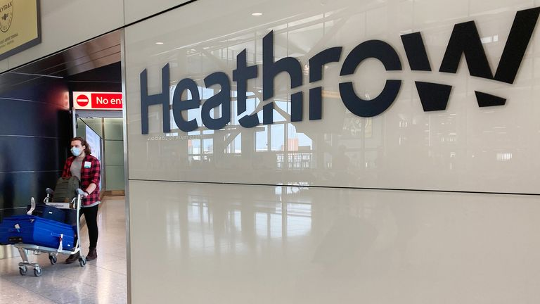 Coronavirus - Sat May 9, 2020 People in Terminal 2 arrivals at London Heathrow, Airport Operators Association (AOA) chief executive Karen Dee said she has not received any details yet about a mandatory 14-day quarantine for all travellers into the UK.