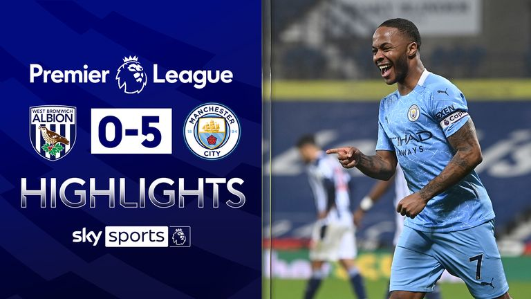 West Brom vs Man City highlights