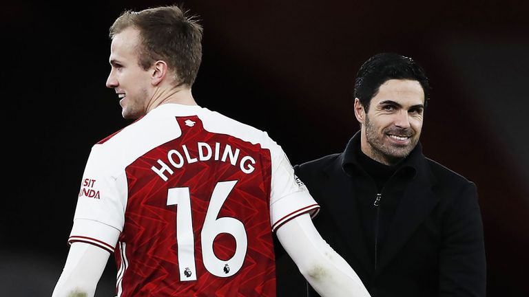 Rob Holding has become a key player for Mikel Arteta