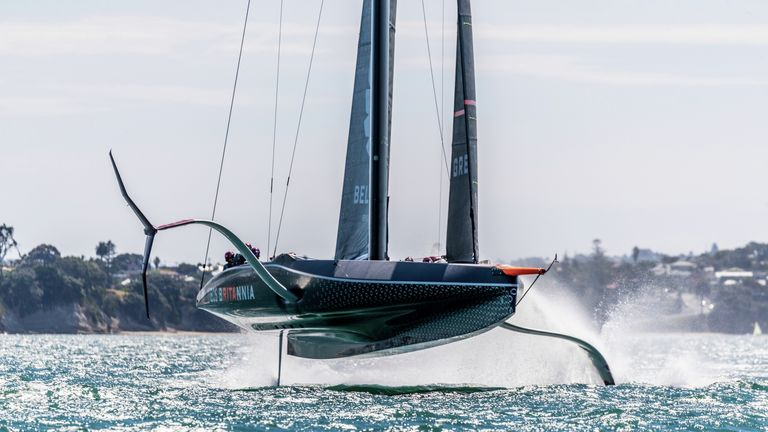INEOS TEAM UK have been pushing hard to test and develop BRITANNIA ahead of the PRADA Cup (Image Credit: C Gregory)