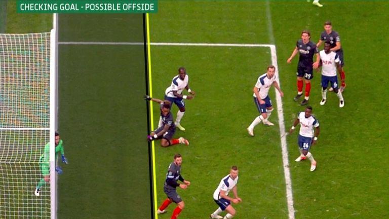 Ivan Toney was denied an equaliser upon VAR review for offside