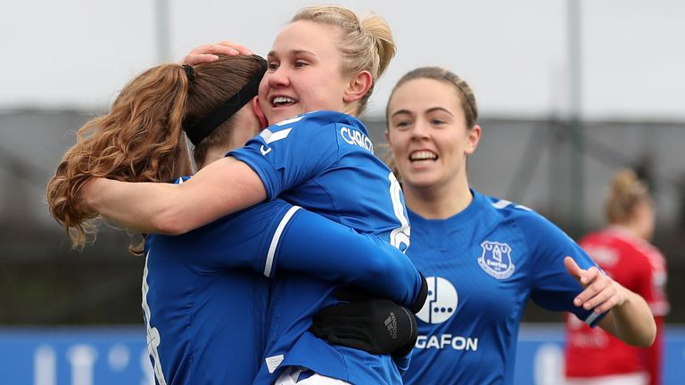 Izzy Christiansen helped Everton to a big win on Sunday - PA