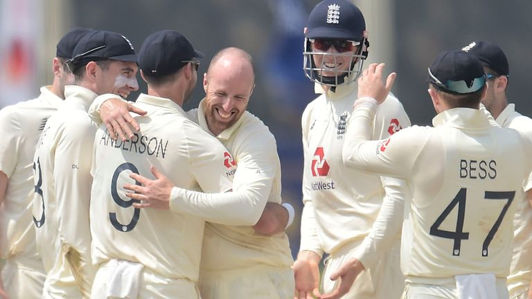 Sri Lanka portal - Jack Leach took three wickets as England reduced Sri Lanka to 67-6 at lunch in Galle