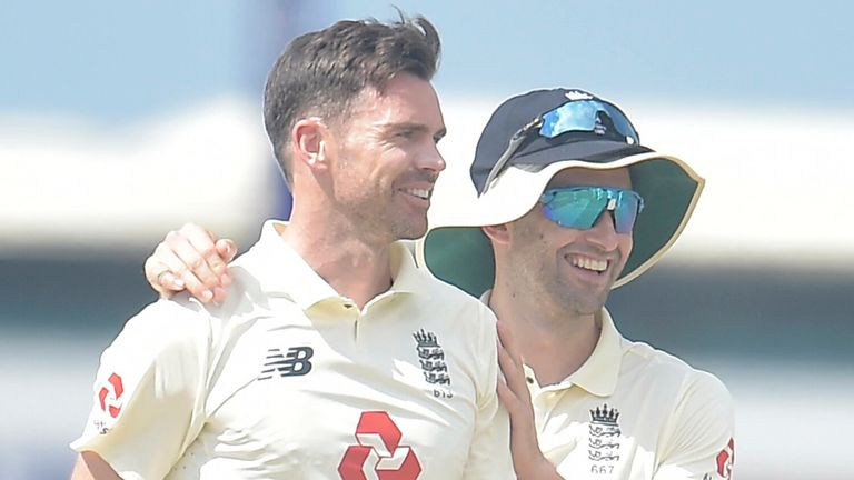 Sri Lanka portal - James Anderson took two wickets in his first spell on day one of the second Test