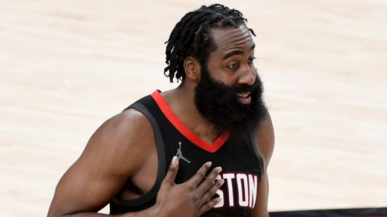 The Houston Rockets sent James Harden to the Brooklyn Nets in a four-team trade earlier this week (AP Photo/Steve Dykes)