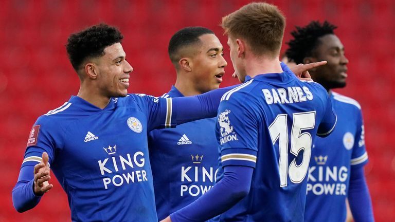 James Justin put Leicester ahead against Stoke in the FA Cup third round