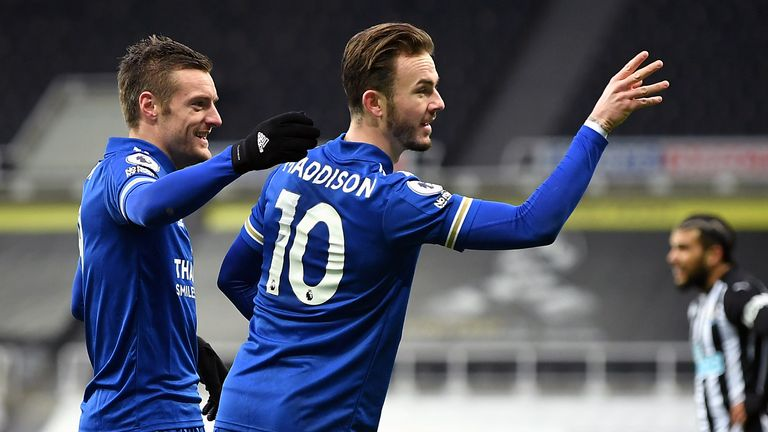 James Maddison and Jamie Vardy are expected to miss Leicester's FA Cup tie at Stoke