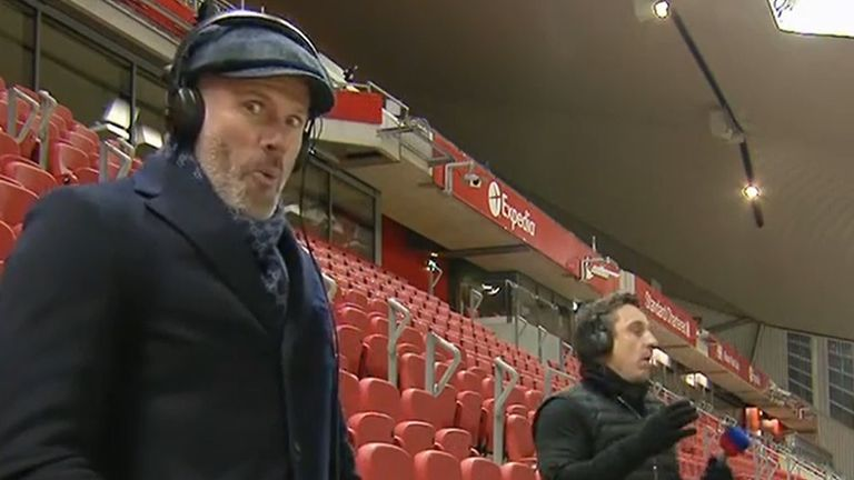 Commentary Cam: Gary Neville and Jamie Carragher.