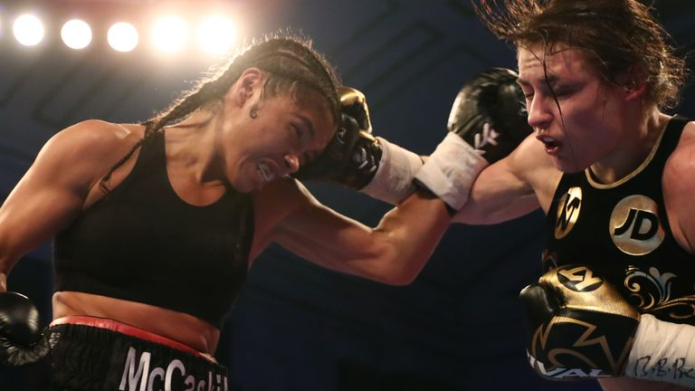 Jessica McCaskill and Katie Taylor fought in London in December 2017