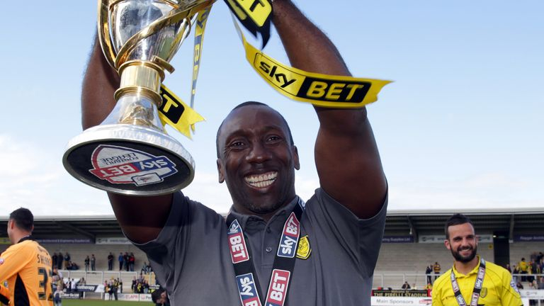 Jimmy Floyd Hasselbaink led Burton Albion to the League Two title back in 2015