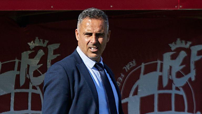 Almeria head coach Jose Gomes