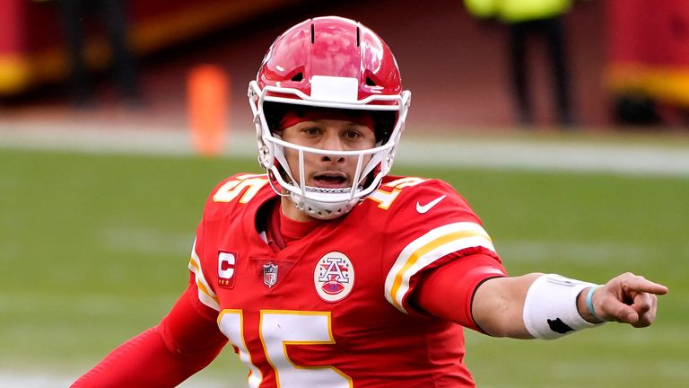 Mahomes was forced off the field in the 22-17 divisional playoff win over the Cleveland Browns