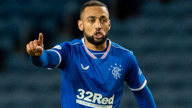 GLASGOW, SCOTLAND - DECEMBER 19: Kemar Roofe in action for Rangers during a Scottish Premiership match between Rangers and Motherwell at Ibrox, on December 19, 2020, in Glasgow, Scotland (Photo by Ross MacDonald / SNS Group)