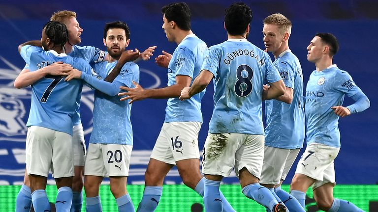 Manchester City turned on the style in the first half with three goals