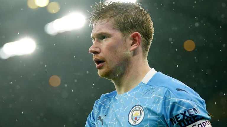 Kevin De Bruyne has yet to sign a new Manchester City deal