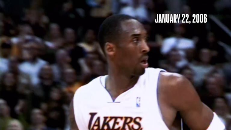 Kobe Bryant makes history with a career-high 81-point performance in the Lakers' victory over the Raptors.