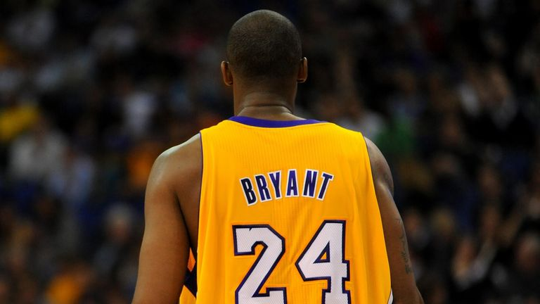 LA Lakers' Kobe Bryant during the NBA Europe Live match at the O2 Arena, London.