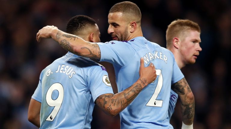 Gabriel Jesus and Kyle Walker tested positive for coronavirus over the Christmas period (Downloaded from PA)
