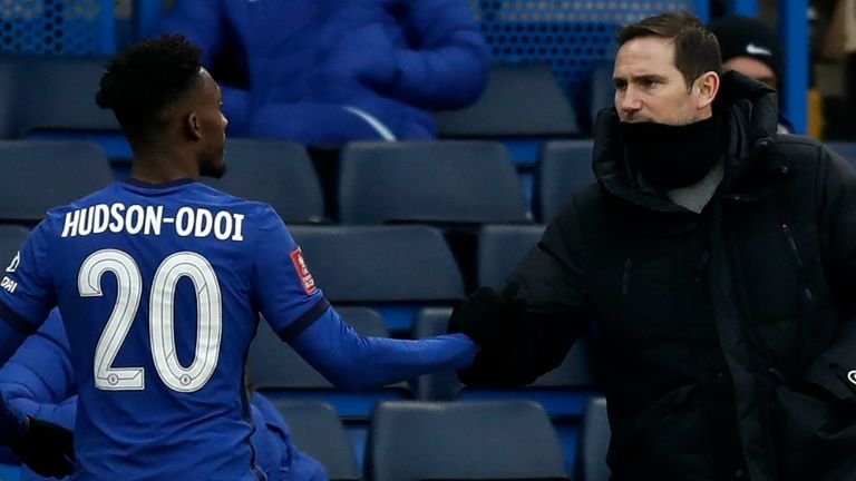 Frank Lampard is happy with Callum Hudson-Odoi's form