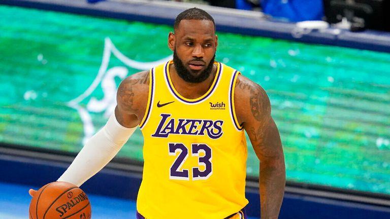 AP - Los Angeles Lakers forward LeBron James (23) during an NBA basketball game against the Oklahoma City Thunder