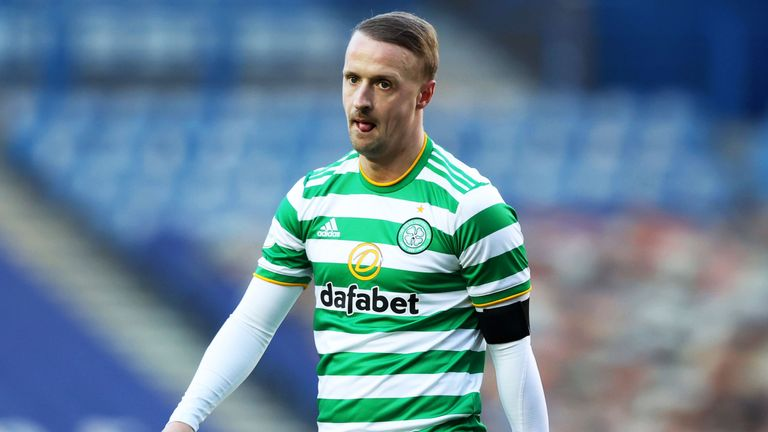 Leigh Griffiths trudges off following the Old Firm defeat at Rangers