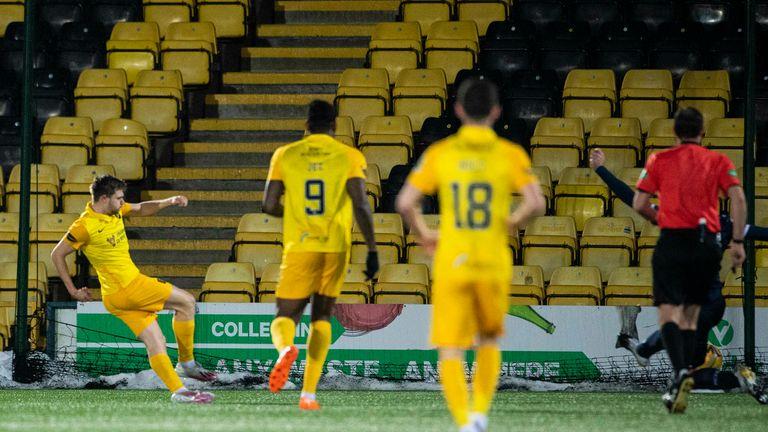 Livingston's Alan Forrest scores to make it 2-1
