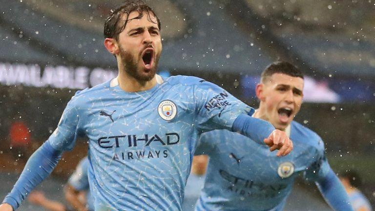 Man City 2 0 Aston Villa Bernardo Silva Ilkay Gundogan Strike Late To Send City Second In Table Football News Sky Sports