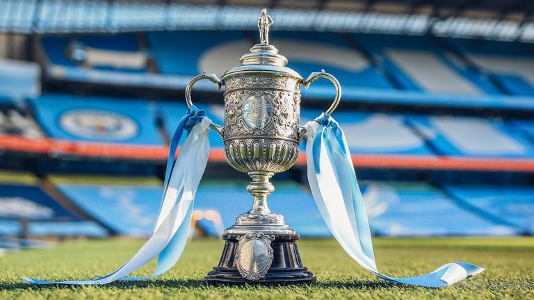 Manchester City have acquired the oldest existing form of the FA Cup after the club's owners, Sheikh Mansour, bought the trophy at auction - courtesy of Man City