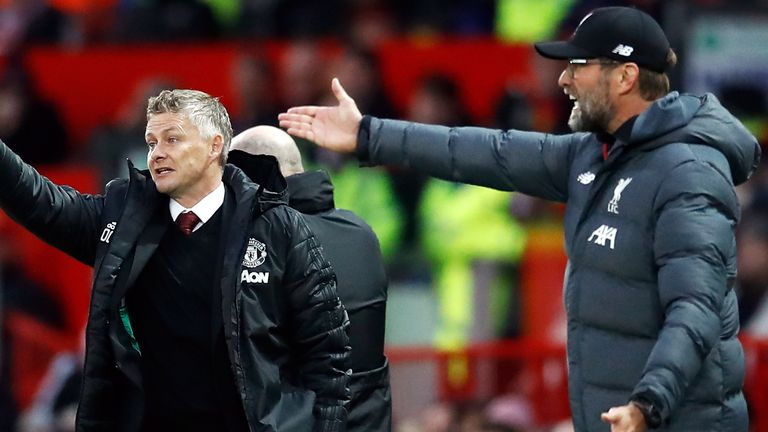 Jurgen Klopp's Liverpool have failed to win their last three league matches, allowing Ole Gunnar Solskjaer's Manchester United to overtake them at the top