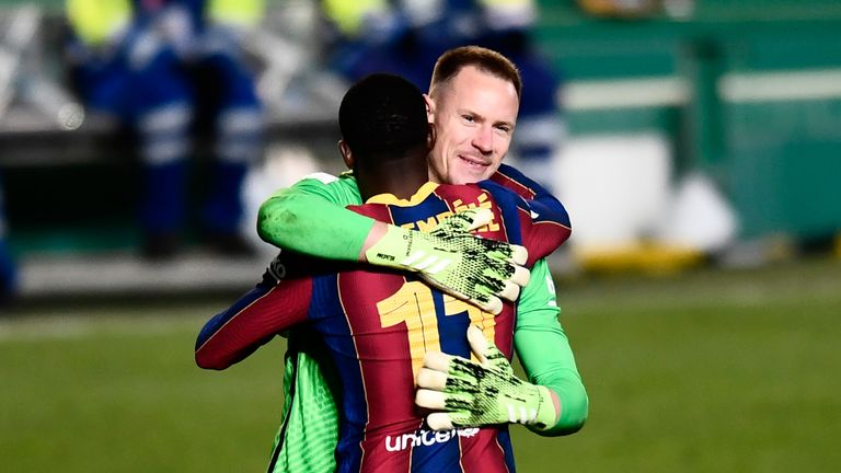 Marc-Andre Ter Stegen was Barcelona's hero as they progressed to the final