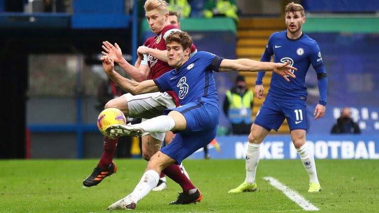 Marcos Alonso marked his return to the Chelsea starting XI with a goal against Burnley