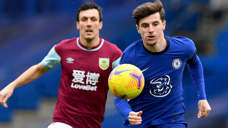 Mason Mount was back in Chelsea's starting XI against Burnley