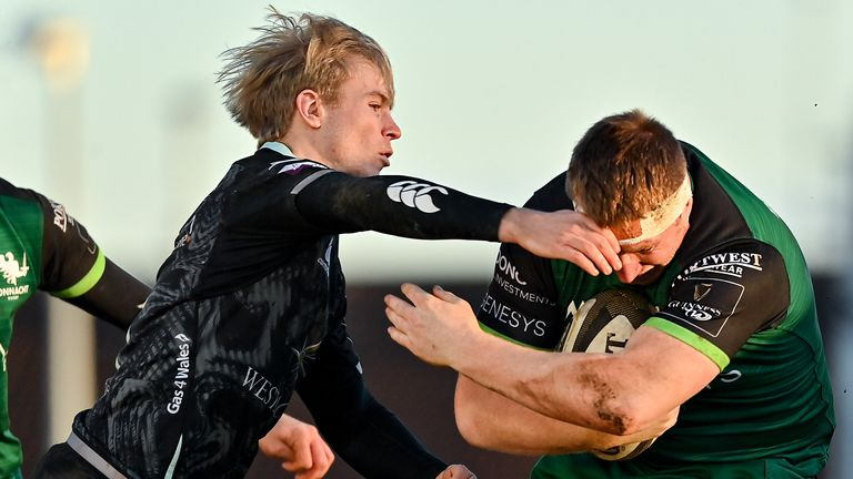 Mat Protheroe was among the try scorers for Ospreys as they secured an entertaining victory at Connacht