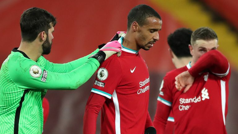Joel Matip has been struggling with a groin injury