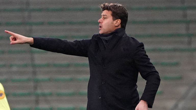 Mauricio Pochettino took charge of PSG for the first time - AP photo