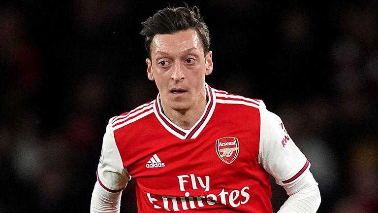 File photo dated 23-02-2020 of Arsenal & # 39;  s Mesut Ozil.