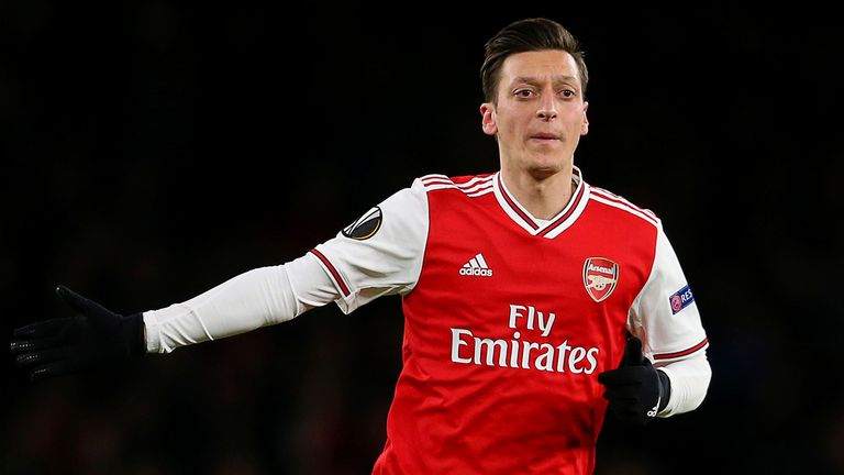 February 27, 2020, London, United Kingdom: Arsenals Mesut Ozil during the UEFA Europa League match at the Emirates Stadium, London. Picture date: 27th February 2020.