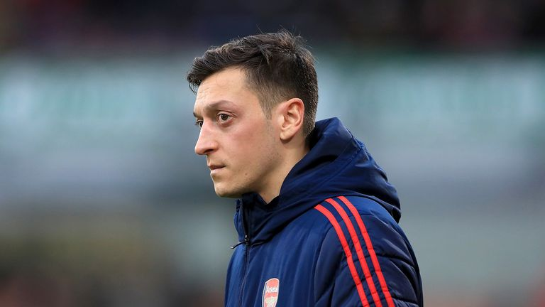 File photo dated 07-03-2020 of Arsenal�s Mesut Ozil.