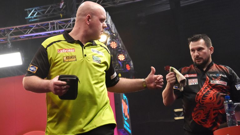 Van Gerwen was dumped out by Clayton for a second successive year