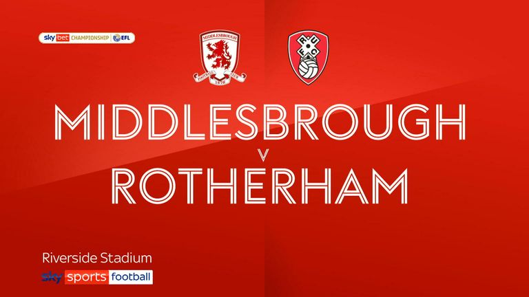 Middlesbrough v Rotherham