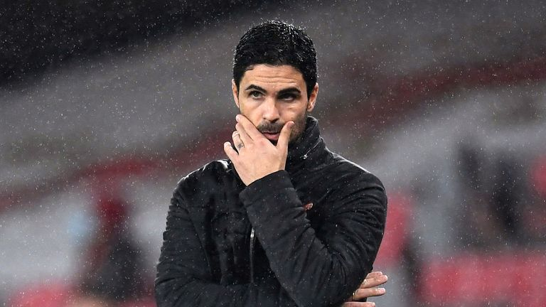 File photo dated 08-11-2020 of Arsenal manager Mikel Arteta.