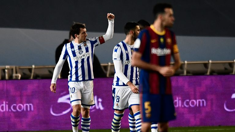 Mikel Oyarzabal had equalised for Real Sociedad from the spot in normal time