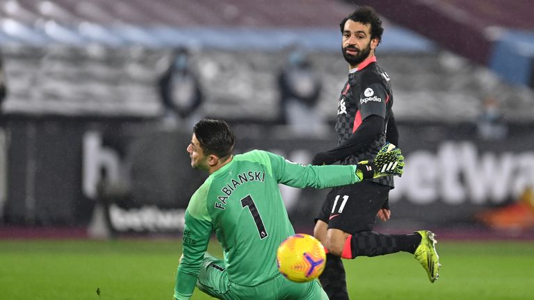 Mohamed Salah scores a fine second goal for Liverpool at West Ham